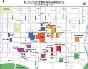 center parking map allentown arena parking where to park when visiting the