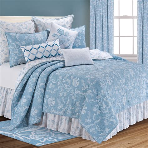 Blue Quilts And Comforters spotlight on eliza lace blue c f d 233 cor more
