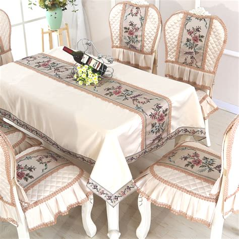 Tablecloths For Coffee Tables 2017 High Quality Pastoral Waterproof Coffee Table Tablecloth Dining Table Cloth Chair Set Lace