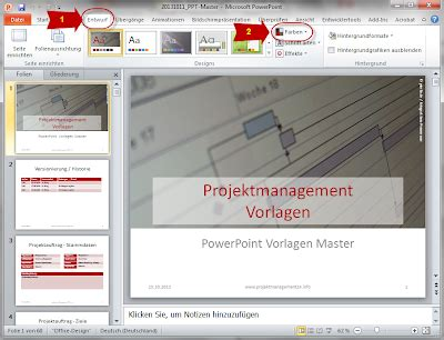 layout ppt erstellen neues farb design in powerpoint erstellen projekmanagement24