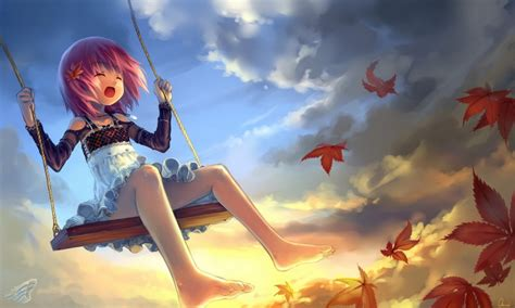 anime swing swinging anime girls wallpapers theanimegallery com
