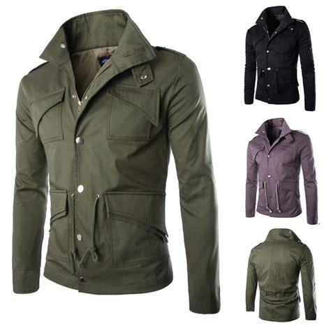 design military jacket 2015 england style jacket men multi pocket plus size