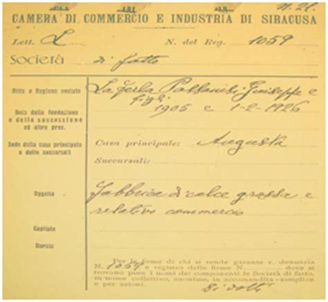 certificato di iscrizione alla di commercio la ferla s p a calce e derivati