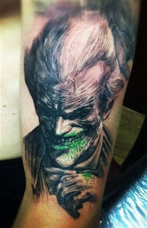 joker tattoo fail tatouage le joker batman 48 inkage