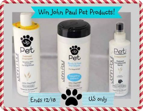 Pet Supplies Sweepstakes - john paul pet care products giveaway miss molly says