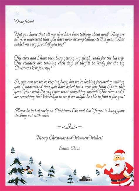 santa letters templates merry christmas christmas