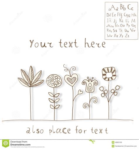 doodle flower font flower doodles font