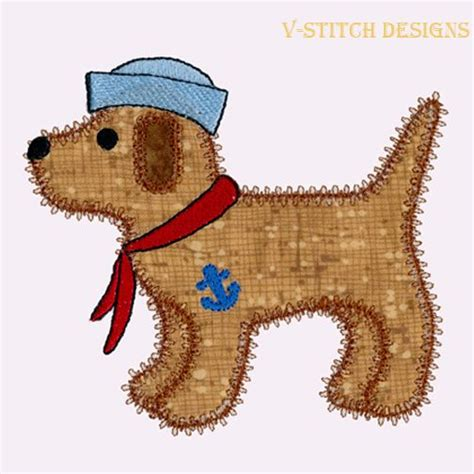 embroidery design dog dog single 3 applique machine embroidery design instant