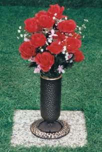 Memorial Vase For Graves Bronze Flower Vases Bronze Cemetery Flower Vases