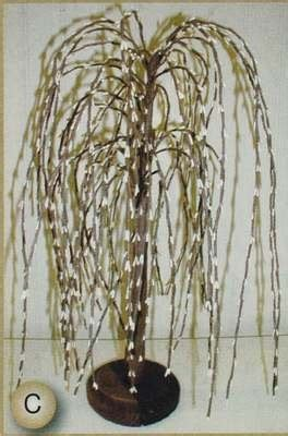 14 inch primitive weeping willow pip berry tree home