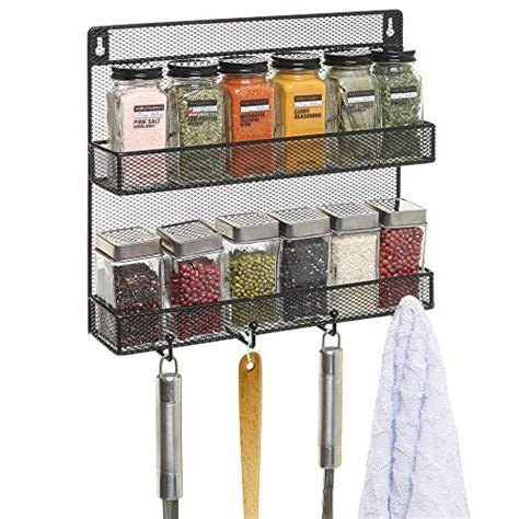 steel wire door mount spice racks in chrome and chagne wall spice racks mounted black wire mesh metal 2 shelf