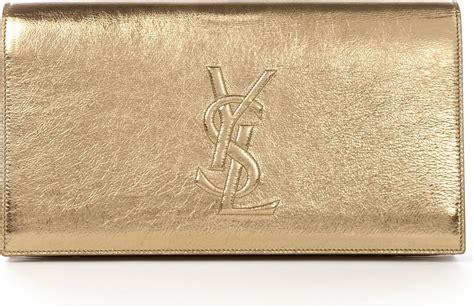 Clutch Python Embossed Gold laurent classic monogram laurent tassel clutch