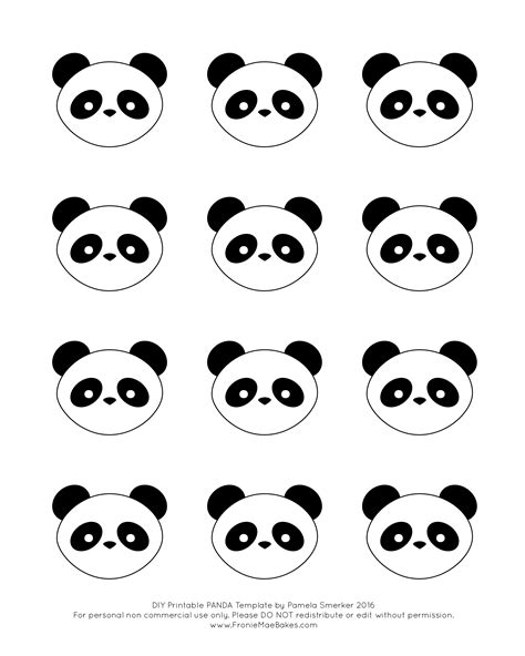 panda cake template royal icing panda cupcake topper with free printable