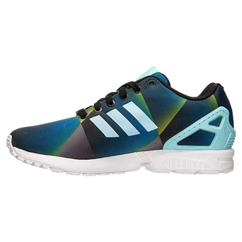 real authentic adidas zx flux print casual shoes for white clear aqua black b34516 aqu promo uk