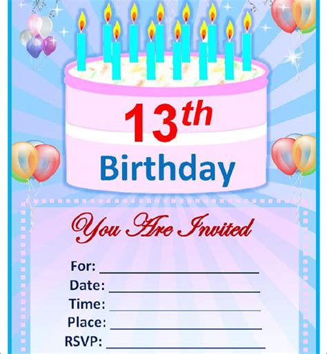 Birthday Invitation Template Word sle birthday invitation template 40 documents in pdf psd vector