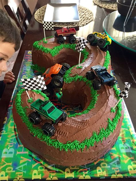 cake ideas for 3 year boy truck cake 3 years ideas for