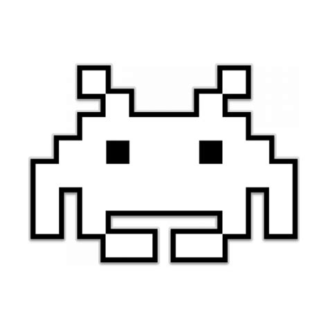 space invaders space invaders 2 shaped sticker unixstickers