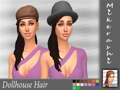 doll house hair sims 4 hairs mikerashi dollhouse hair