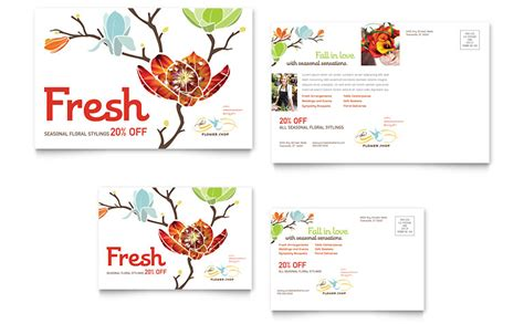 business card template free word roses flower shop postcard template word publisher