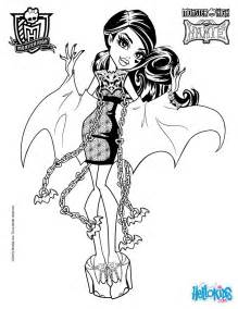high pictures to color draculaura coloring pages hellokids