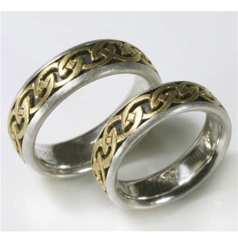 Eheringe Silber Gold by Trauringe Mit Kelten Ornament In Silber Und Gelbgold