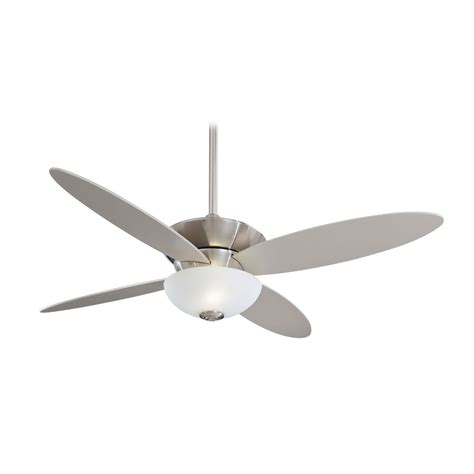 ceiling fans nickel finish modern ceiling fan with light with white glass in brushed