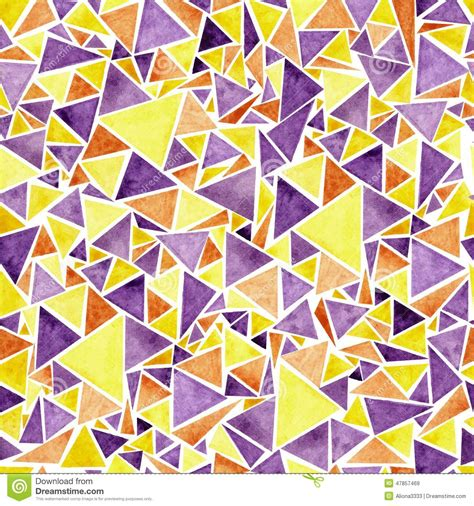 pattern purple and yellow watercolor purple and yellow triangle pattern stock