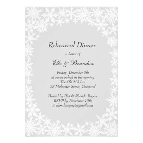 Come With Me Winter Dinner Invites by 1000 Images About Winter And Snowflake Rehearsal Dinner