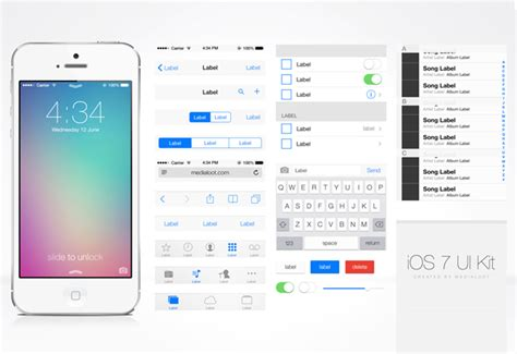 ios app design kit 50 best free psd flat ui kits designmaz