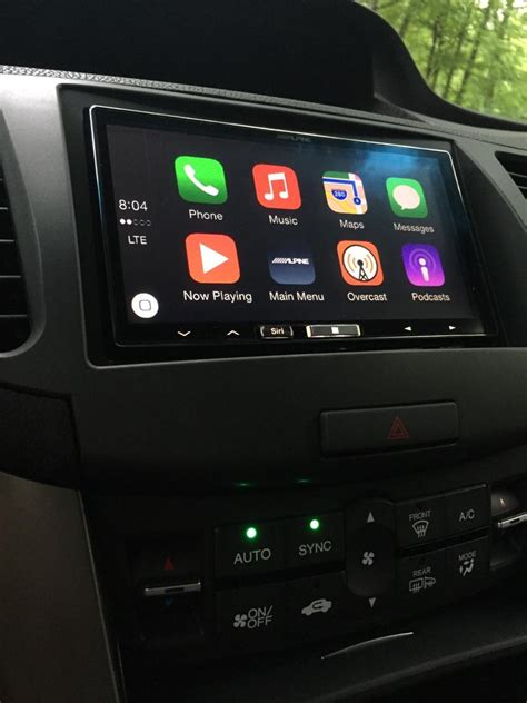 carplay installs alpine ilx 007 ilx 700 in a acura tsx