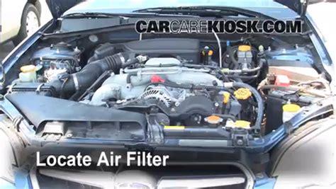 air filter how to 2005 2009 subaru legacy 2007 subaru legacy 2 5i special edition 2 5l 4 cyl