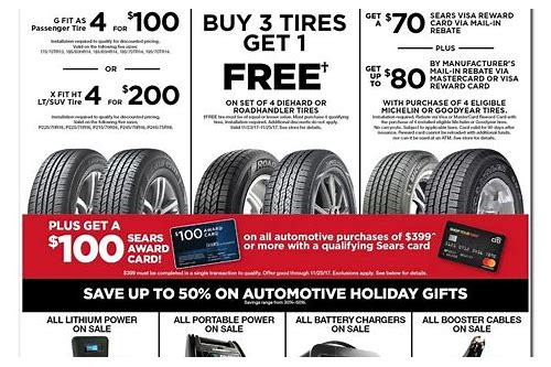 sears tire deals black friday