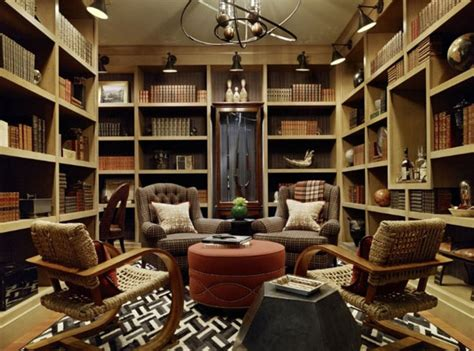 Decorating A Home Library by 37 Home Library Design Ideas With A Dropping Visual