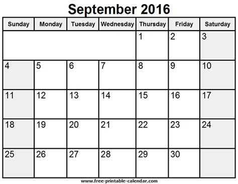 blank calendar september 2016 related keywords suggestions for september 2016 calendar