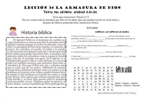 sopa de letras de la armadura de dios lecci 243 n 34 la armadura de dios iglesia de ni 241 os