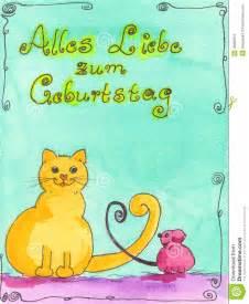 birthday card with german language stock photos image