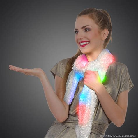 light up rave clothes led light up scarf