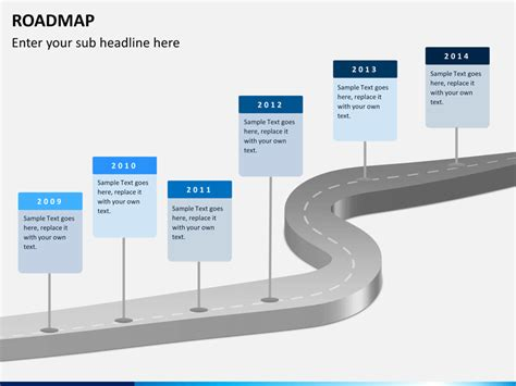 powerpoint roadmap template free roadmap powerpoint template sketchbubble
