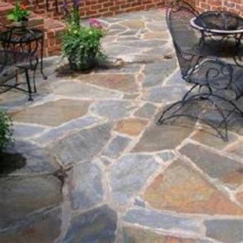 backyard flagstone flagstone patio ideas i love for our home pinterest