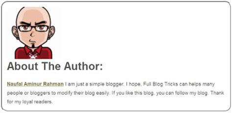 blogger tips and tricks how to add quot about the author