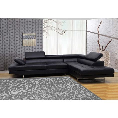 best deals on leather sofas black bonded 2 piece leather sectional