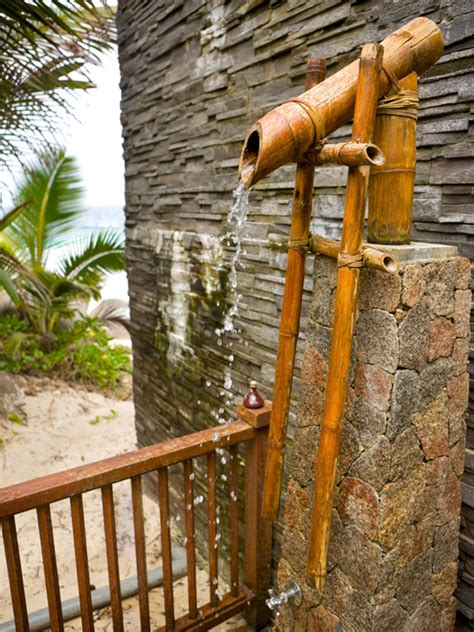 outdoor showering 10 diy creative outdoor shower ideas home design and