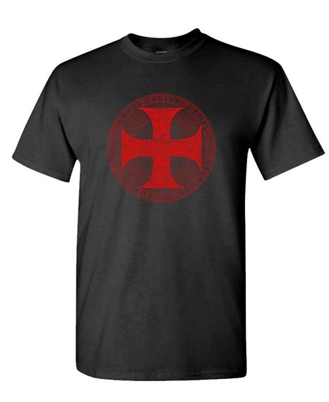 T Shirt Cross knights templar cross t shirt christian crusade jesus god worship ebay