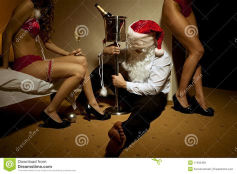 Old Couple On Porch by Santa Claus Is Passed Out Drunk Stock Photos Image 17405493