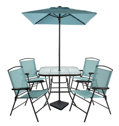 Folding Patio Dining Set Room Essentials 7 Sling Folding Patio Dining Ben S Bargains