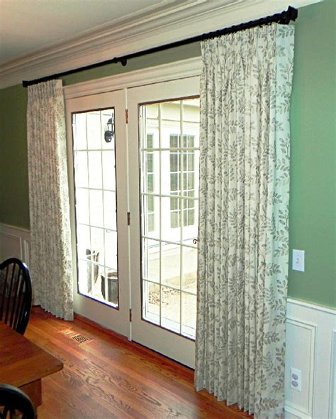 curtain rods for french doors french door curtains spice up your doors