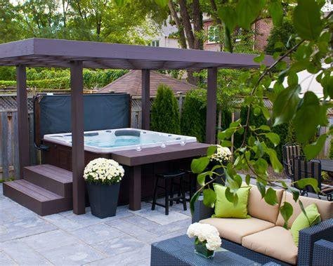 patio spa hydropools amazing 670 self cleaning tub with gazebo