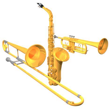 horn section instruments alto saxophone trombone trumpet c4d
