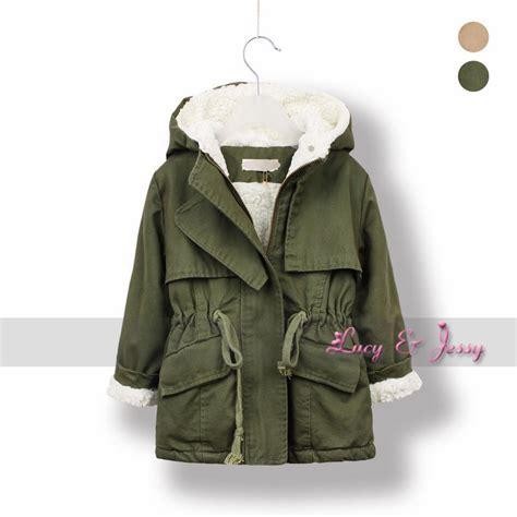 Baby Fleece Coat berber fleece liningtrench coat hooded for toddler baby
