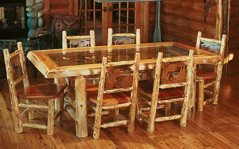log dining room sets cuyuna dining table rustic furniture mall by timber creek